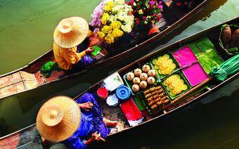 Tajlandia, Damnoen Saduk - Pływający Targ